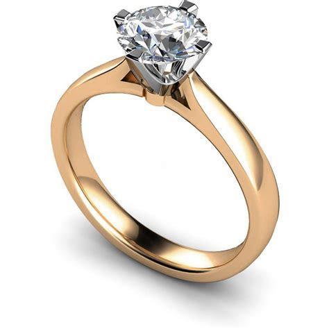 HRR526 Crown Set Round Cut Diamond Ring   Shining Diamonds