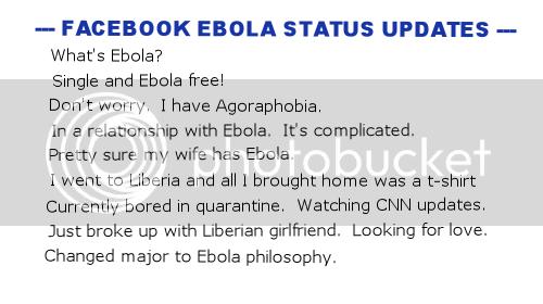 Facebook Ebola Status Update