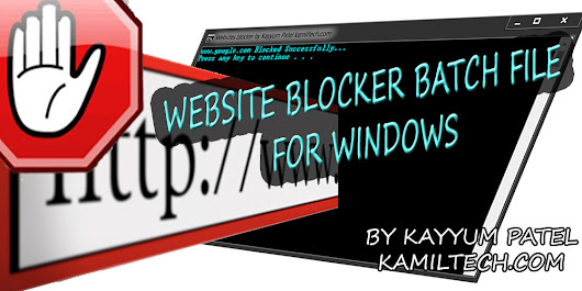 Block Any Website in Your Computer Using My Website Blocker Batch File - KAMIL