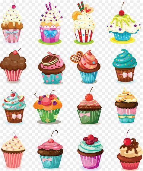 Cupcake Birthday cake Icing Muffin Cartoon   Cream cake