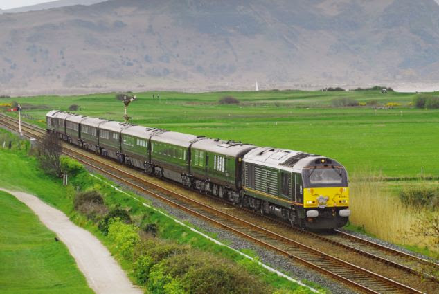 With its distinctive royal claret coaches, the train attracts an enormous amount of attention wherever it goes