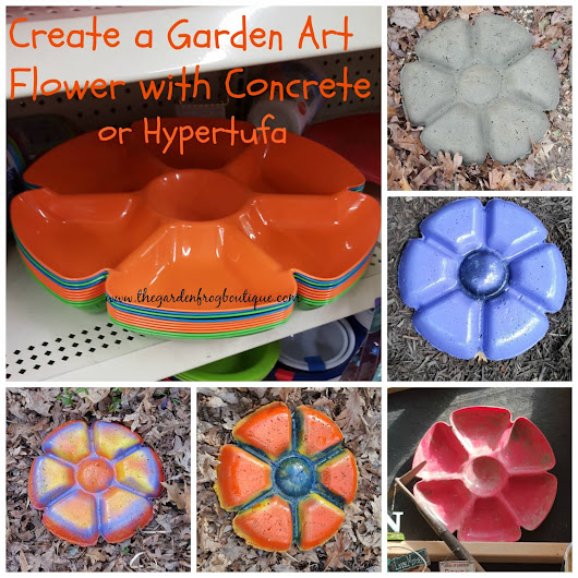 Create a Garden Art Flower with Concrete Hypertufa » The Garden Frog Boutique