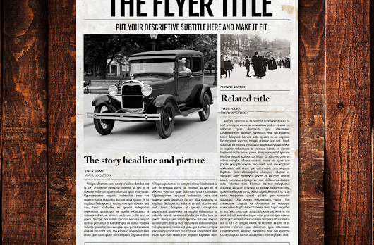 1 Page Ledger Size Newspaper Format Template for Adobe Photoshop
