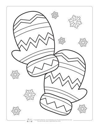 Ideas For Free Winter Coloring Pages