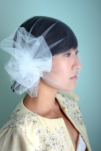 tulle_twigs and honey_ hair piece veil