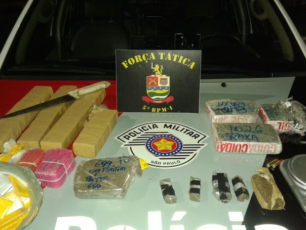 Prende tráfico de drogas Taubaté (Foto: Divulgação/Polícia Militar)
