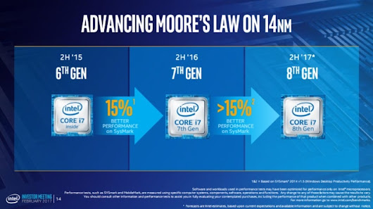 Intel Confirms 8th Generation Core CPUs Will Launch in 2H 2017, Using 14nm Manufacturing Process | NDTV Gadgets360.com