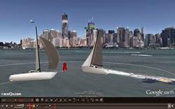 Raceqs.com 3D replay of sailboats