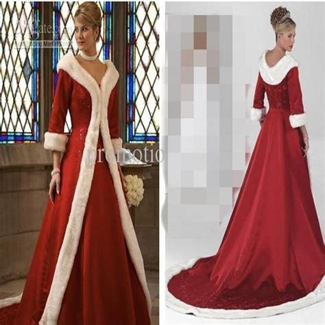 2019 Long Sleeves Cloak Winter Ball Gown Wedding Dresses