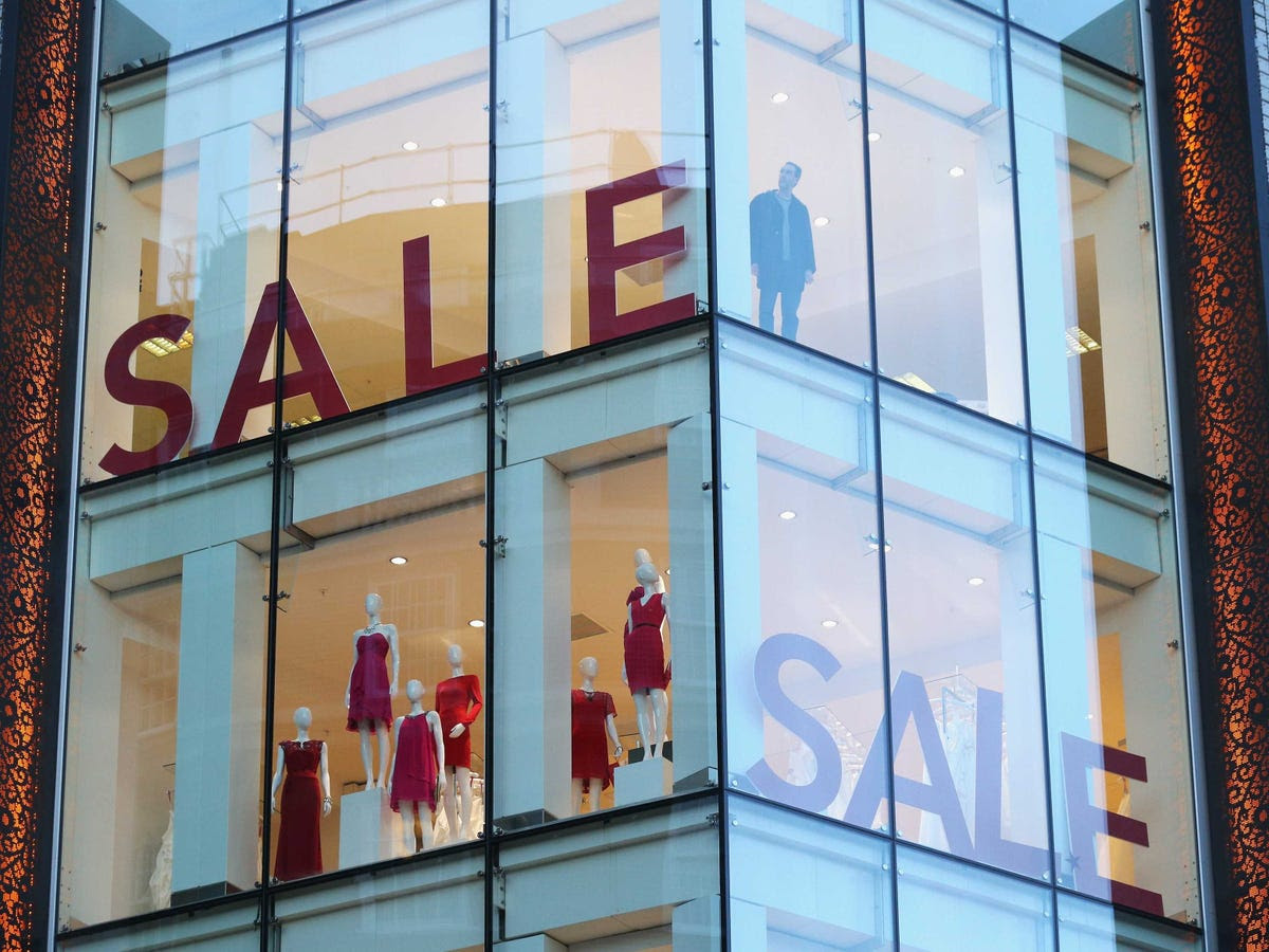 """A big, bold """"SALE"""" sign helps get people in the store, where they are likely to buy non-sale items."""