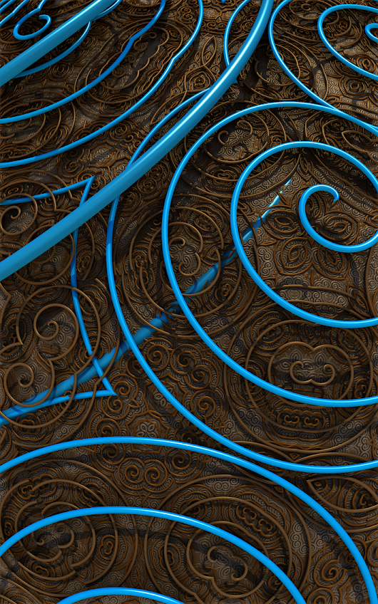 Abstract Brown  Blue 030f