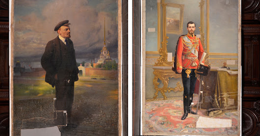 Portrait of Czar Nicholas II Discovered Beneath Portrait of Lenin - The New York Times