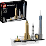 LEGO Architecture New York City 21028, Build It Yourself New York Skyline Model for Adults and Kids