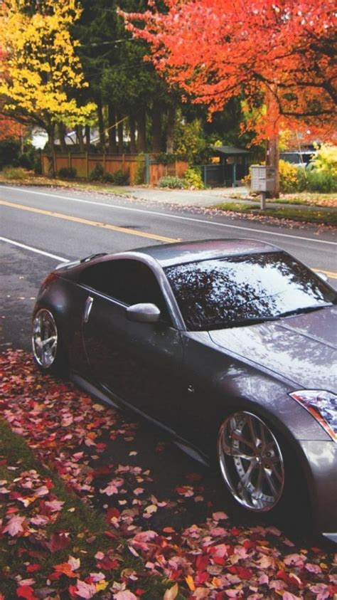 nissan  autumn cars tuning wallpaper