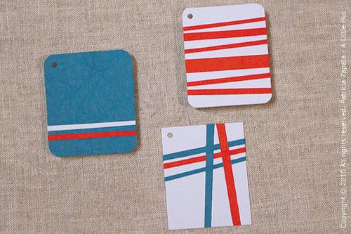 three gift tags