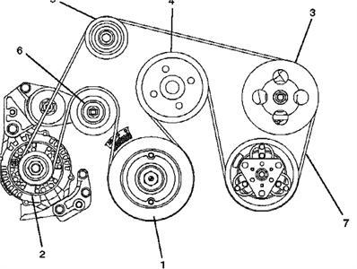 2001 Honda Odyssey Serpentine Belt Diagram