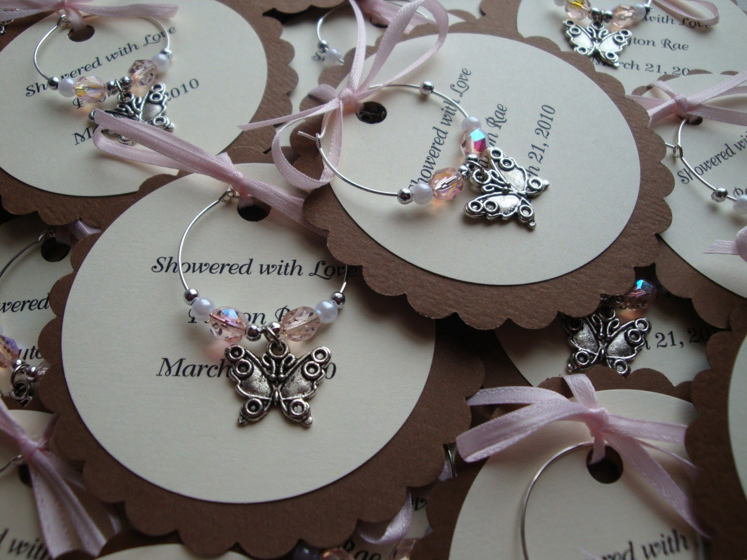 Etsy Wedding Jewelry on Personalized Wine Charms By Sunmoonstars