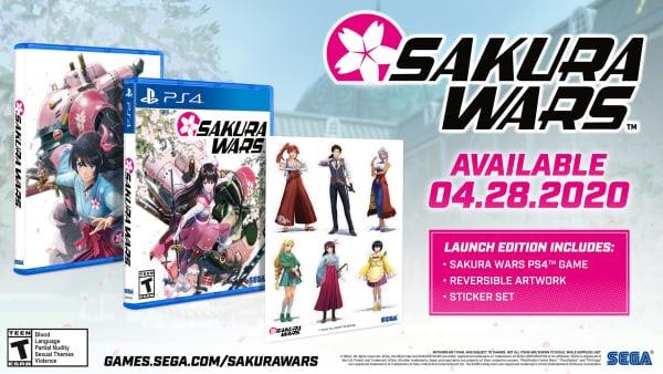Sakura Wars sai no dia 28 de abril no ocidente