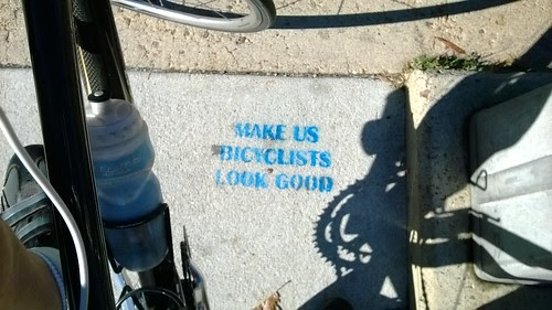 """Make us bicyclists look good"""