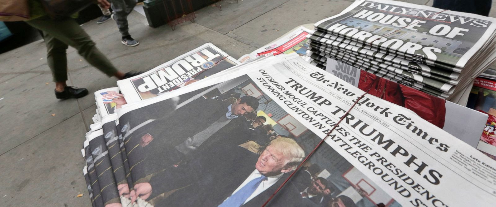 House of Horrors,' 'Trump Triumphs:' How US Newspaper Front Pages ...