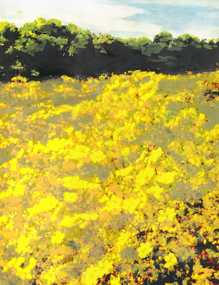 Yellow Spring Fields Maryland Landscape Fine Art (detail); $18 to $24 medium-size prints. Free downloads, wallpaper. An original multimedia acrylic/oil painting, Maryland, yellow spring fields of flowers. GrlFineArt. Fine art work, fine art decor, fineart; landscapes, seascapes, boats, figures, nudes, figurative art, flowers, still life, digital abstracts. Multimedia classical traditional modern acrylic oil painting paintings prints.