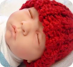 Bright Red Infant Hat