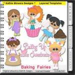 Baking Fairies Layered Templates - CU