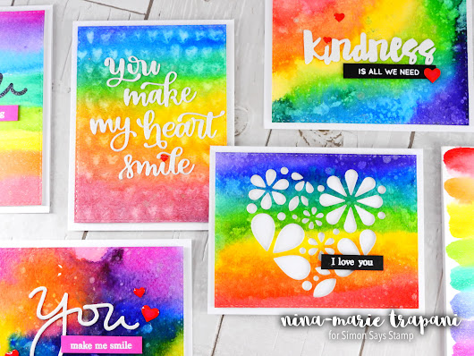 Prima Watercolor Confections + Rainbow Cards + Kindness Day! - Simon Says Stamp Blog