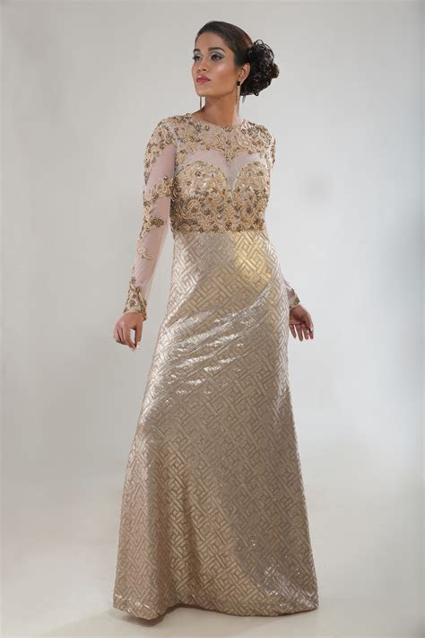 Buy online Gold Indian wedding gown   AD Singh
