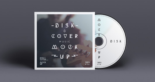 Psd CD Cover Disk Mock Up | Psd Mock Up Templates | Pixeden