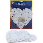 Doilies 6 White Hearts 100/pk - Hygloss