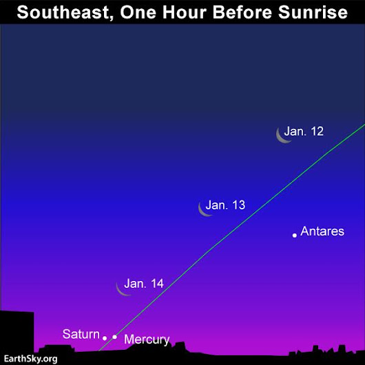 Mercury/Saturn conjunction soon! | EarthSky.org