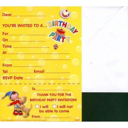 carte invitation anniversaire en