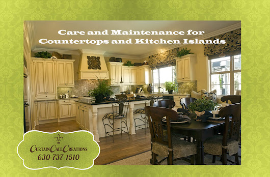 Care and Maintenance for Butcher Block Countertops and Kitchen Islands | Interior Design | Window Treatments | Curtain Call Creations