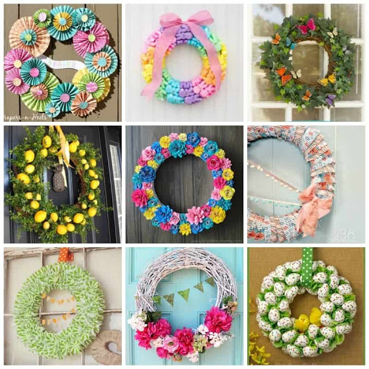 Spring Wreaths: 30+ DIY ideas from Easter, succulent, flower and recycled wreaths!