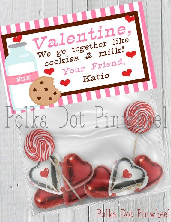 Cookies & Milk Valentines Printable.
