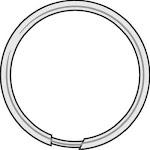 """Hy-ko Kb106 Tempered Steel Split Key Ring, 1-1/8"""", 100-pack"""