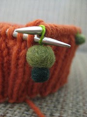 Soft Stitch Markers in use