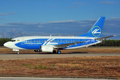 Dniproavia Boeing 737-5L9 UR-DND (msn 28722) AYT (Ton Jochems). Image: 903466.