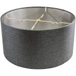 HomeConcept Granite Gray Burlap Hardback Drum Lampshade 16x16x8 1 | LampsUSA