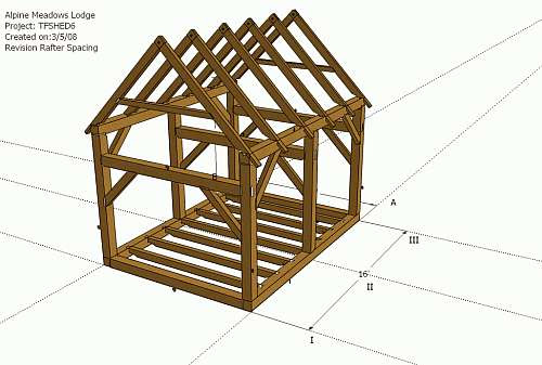 Shed Roof Rafter Plans ~ portable storage sheds