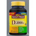 Nature Made Vitamin D3, 2000 IU, Tablets - 220 count