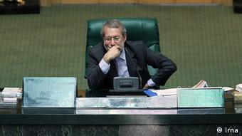 Iran Ali Larijani im Parlament (Irna)
