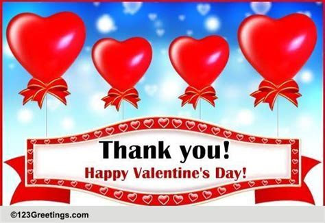Valentine's Day Thank U Balloons! Free Thank You eCards