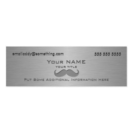 Modern Mustache Metallic print Business Cards