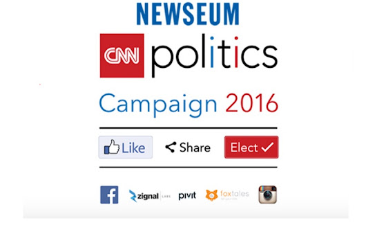 'CNN Politics Campaign 2016: Like, Share, Elect' To Open at the Newseum April 15