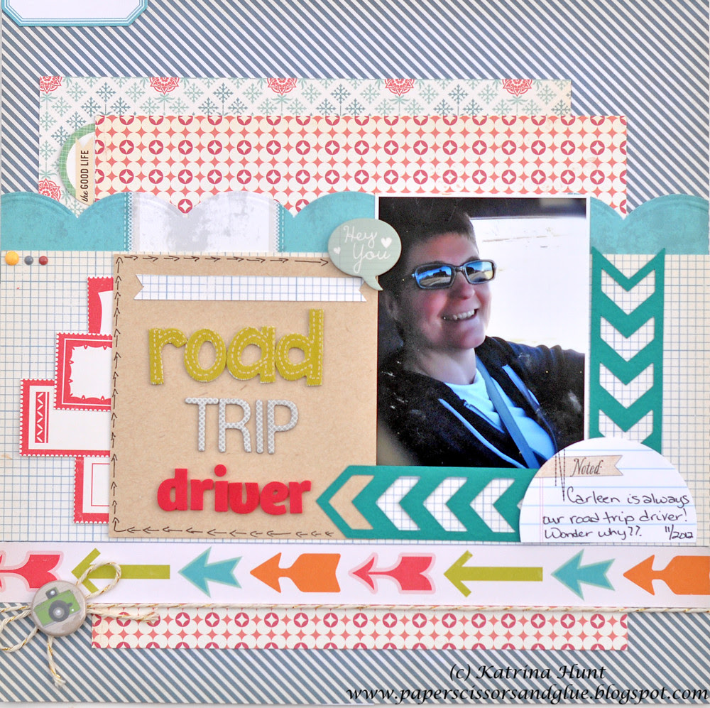 Road Trip Driver=Another layout with Gossamer Blue!