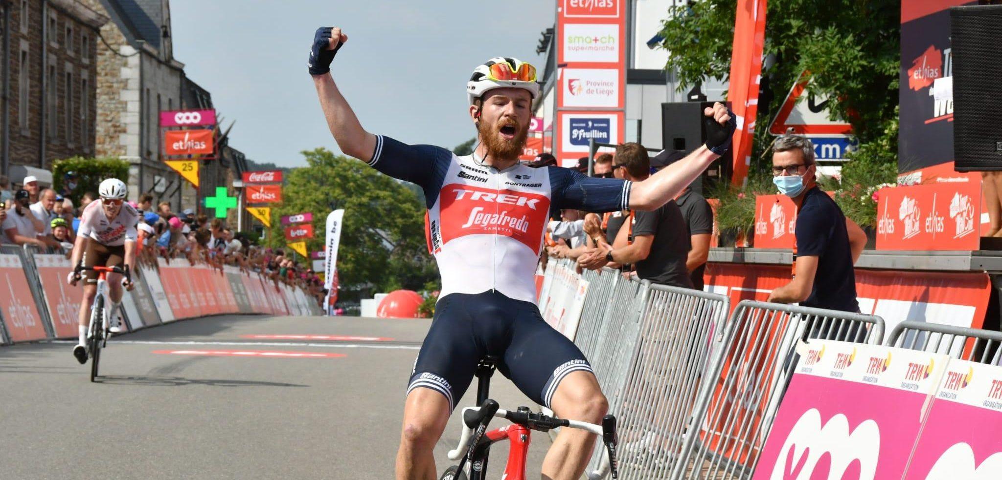 Quinn Simmons wint levendige heuveletappe in Tour de Wallonie