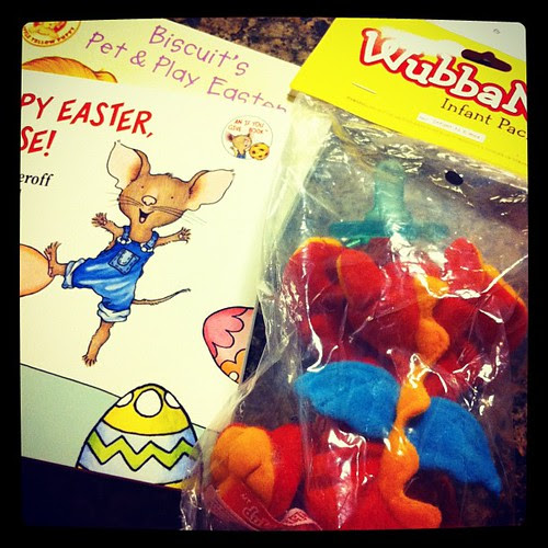{Day 3} in the #mail today...goodies for L's Easter basket! Love the dragon Wubbanub #aprilphotoaday #dragonbaby