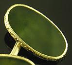 Carrington jade cufflinks. (J9288)